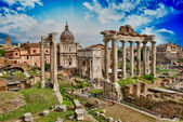 Beautiful view of Imperial Forum in Rome. — Stock Photo