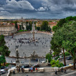 View of Piazza del Popolo from Pincio promenade - Rome — Stock Photo