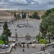 View of Piazza del Popolo from Pincio promenade - Rome — Stockfoto