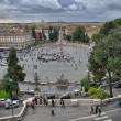 View of Piazza del Popolo from Pincio promenade - Rome — Foto Stock