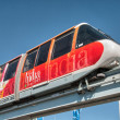 SYDNEY - JUN 22: A monorail runs above the public street in city — Stock Photo