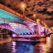 Colorful Bridge at Night in London — Stock Photo