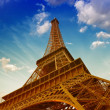 Wonderful sky colors above Eiffel Tower. La Tour Eiffel in Paris — Stock Photo #19708715