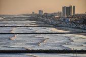 Galveston skyline and beach, Texas — Stock Photo