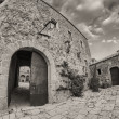 Medieval Architecture and Homes of a small town in Tuscany — Stock Photo