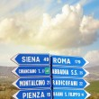 Road signs pointing different directions in Tuscany — Stock Photo #19711467