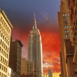 Dramatic Sky above New York City - Manhattan — Stock Photo #19712437