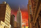 Dramatic Sky above New York City - Manhattan — Stock Photo