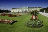 Gardens and Flowers inside Schonbrunn Castle — Stock Photo