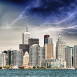 Toronto - Canada. Beautiful downtown view from lake Ontario — Stock Photo