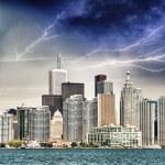 Toronto - Canada. Beautiful downtown view from lake Ontario — Stock Photo