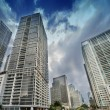 Miami. Beautiful skyline with city streets and skyscrapers — Stock Photo