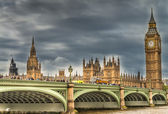 London. Wonderful view of Westminster bridge with Big Ben and Ho — Stock Photo