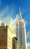 NEW YORK CITY - MAR 22: Empire State Building upward view from s — Stock Photo