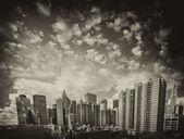 Vacker utsikt över nedre manhattan skyskrapor — Stockfoto