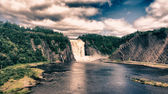 Colors of Montmorency Falls in Quebec — Stock Photo