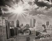 Montreal, canadá. vistas aéreas de los rascacielos de la ciudad — Foto de Stock