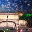 Piazza Venezia and National Monument to Victor Emmanuel II - Sun — Stock Photo