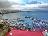 Amazing view of Gulf of Naples in Winter season — Stock Photo