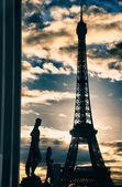 Paříž barvy v zimě — Stock fotografie