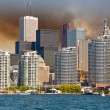 Toronto. Beautiful view of city skyline from Lake Ontario - Stock Photo