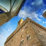 Palazzo Vecchio and Piazza della Signoria in Florence. Beautiful — Stock Photo #22097151