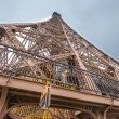 Stock Photo: Magnificence of Eiffel Tower, view of powerful landmark structur