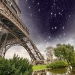 Stock Photo: Beautiful view of Eiffel Tower with its magnificence - Paris