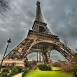 Magnificence of Eiffel Tower, view of powerful landmark structur — Stock Photo