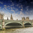 London, UK - Palace of Westminster (Houses of Parliament) with B — Stock Photo #22495659