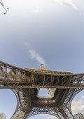 Clouds and Sky Colors above Eiffel Tower — Foto Stock