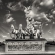 Majesty of Quadrigover Brandenburg Gate, with dramatic Sky — Stock Photo #22507449