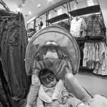 Sleeping Baby inside a Shop — Stock Photo