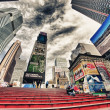 NEW YORK CITY - MAR 2: Giant skyscrapers dominate city streets,  — Photo