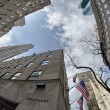 NEW YORK CITY - MAR 2: Giant skyscrapers dominate city streets, - Stock Photo
