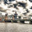 London skyline with Thames river — Stock Photo