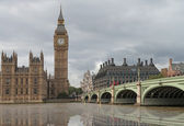 Westminster Palace and Bridge — Stock Photo