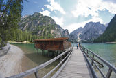 Braies Lake, Italy — Stock Photo