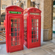 Beautiful classic Red Phone Booth, England — Stock Photo