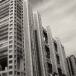Stock Photo: Architectural detail of Tokyo, Black and White view
