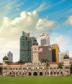 Merdeka Square, Kuala Lumpur. View of city skyline — Stock Photo