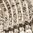 Notre Dame Cathedral, Paris. Beautiful facade architectural detail — Stock Photo #23397480