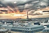 PARIS - DECEMBER 07: The Christmas tree at Galeries Lafayette — Stock Photo