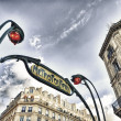 PARIS - NOV 29: Beautiful metro sign outside a station — Stock Photo #23446236