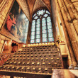 Stock Photo: Paris. Internal gothic architecture of Notre Dame Cathedral