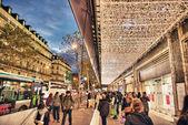 PARIS - NOV 28: Tourists walk along city streets, November 28, 2012 in Paris. — Stock Photo