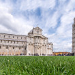 Pisa. Wonderful view of Miracles Square in Spring Season — Stok fotoğraf