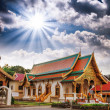 Gorgeous view of Thailand Temple with dramatic sky - Стоковая фотография