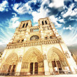Notre Dame Cathedral - Paris. Wonderful winter sky - ストック写真