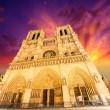 Notre Dame Cathedral - Paris. Wonderful winter sky - Stock fotografie